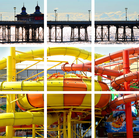 Pier and Water Park Photograph